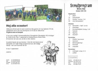 Den 7 september startar Scouterna för hösten
