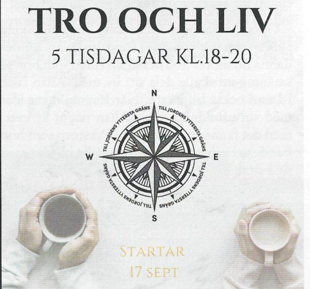 Tro och liv tisdag 29 oktober kl 18:00
