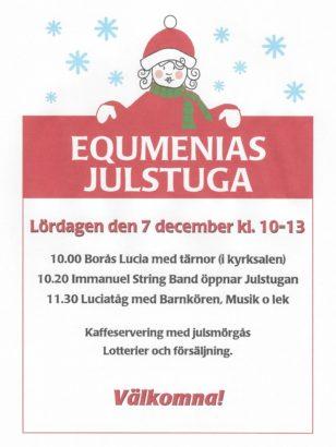 Välkommen till Julstugan 7 dec kl 10:00-13:00