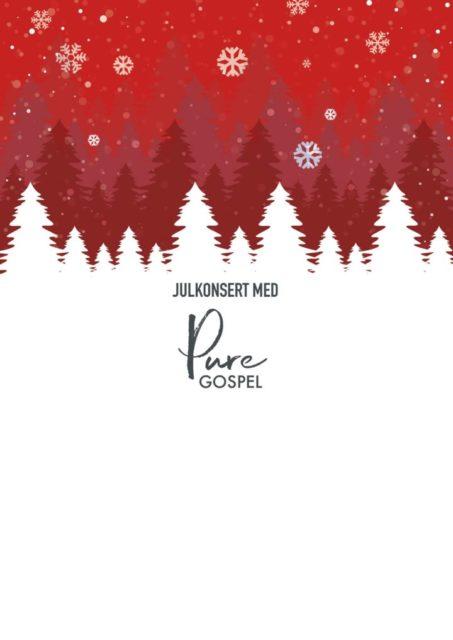 Julkonsert med kören Pure Gospel lördag 21 december kl 18:00.