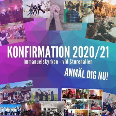 Konfirmation 2020/21 Anmäl dig nu!