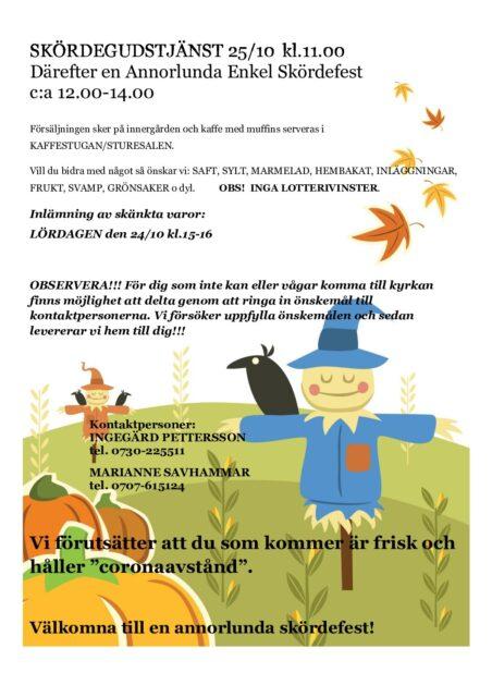 Välkommen till en annorlunda enkel skördefest 25 oktober